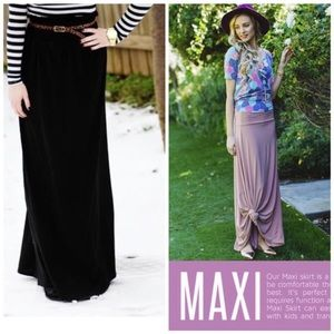 Black LuLaRoe Maxi Skirt/Dress